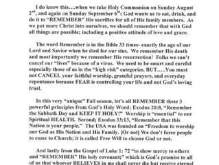 """""""A Fall to Remember...God!"""" August/September Newsletter & Updates"""
