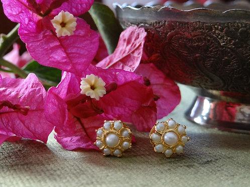hyderabadi pearl stud earring