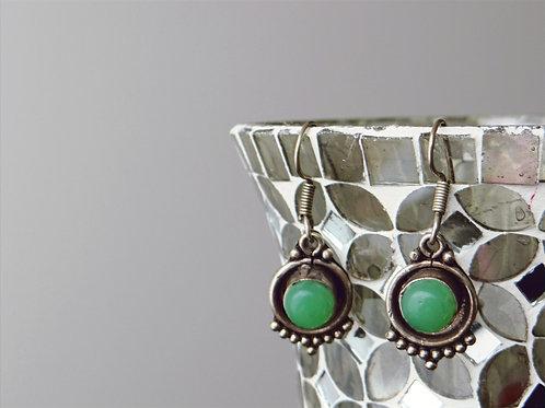 Jade Sterling Silver Earring