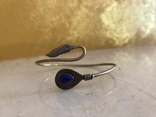 brass bracelet with stone