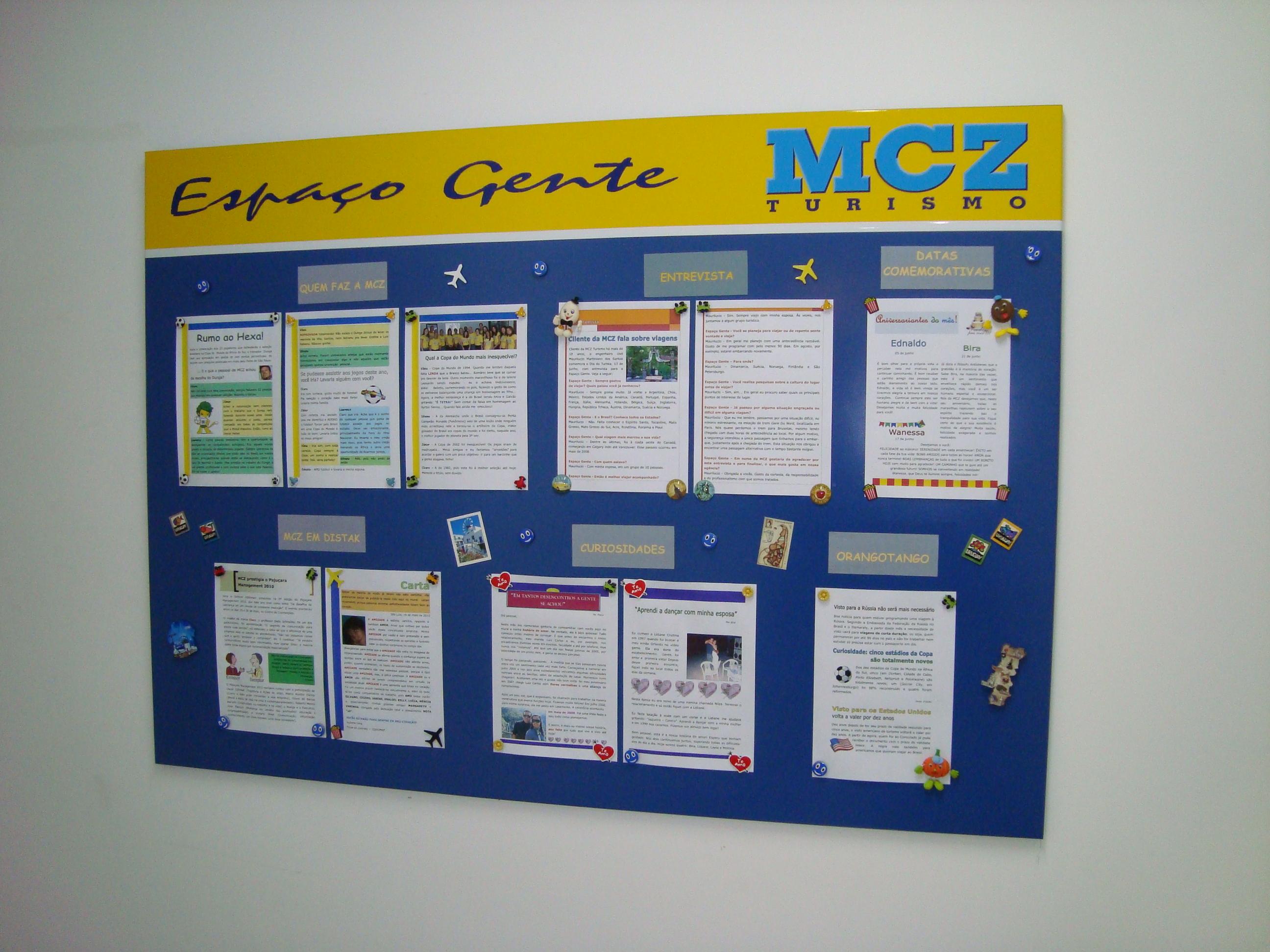Jornal Mural MCZ Gente (2010 a 2012)