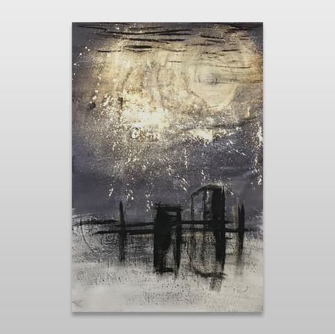 Rain under the moon
