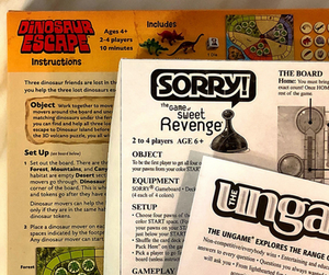 Board game instructions