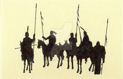 Indian Warriors on Horseback