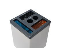 Afvalbak Cube met vier fracties