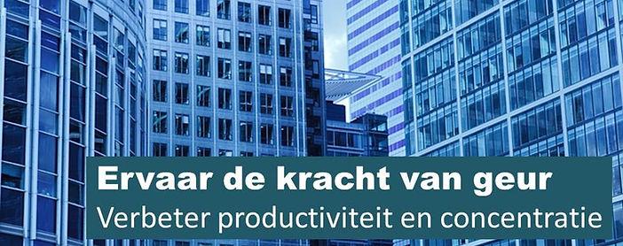 geurverspreiding kantoor, concentratie verbeteren, productiviteit verbeteren