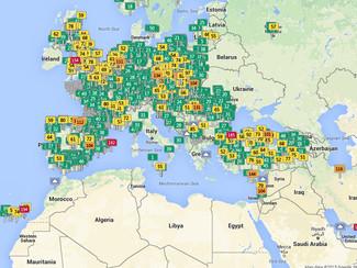 Interactieve kaart houdt luchtkwaliteit bij