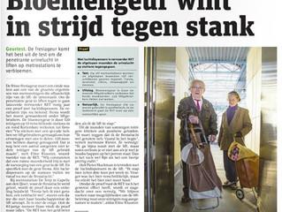 Bloemengeur wint in strijd tegen stank in liften bij RET
