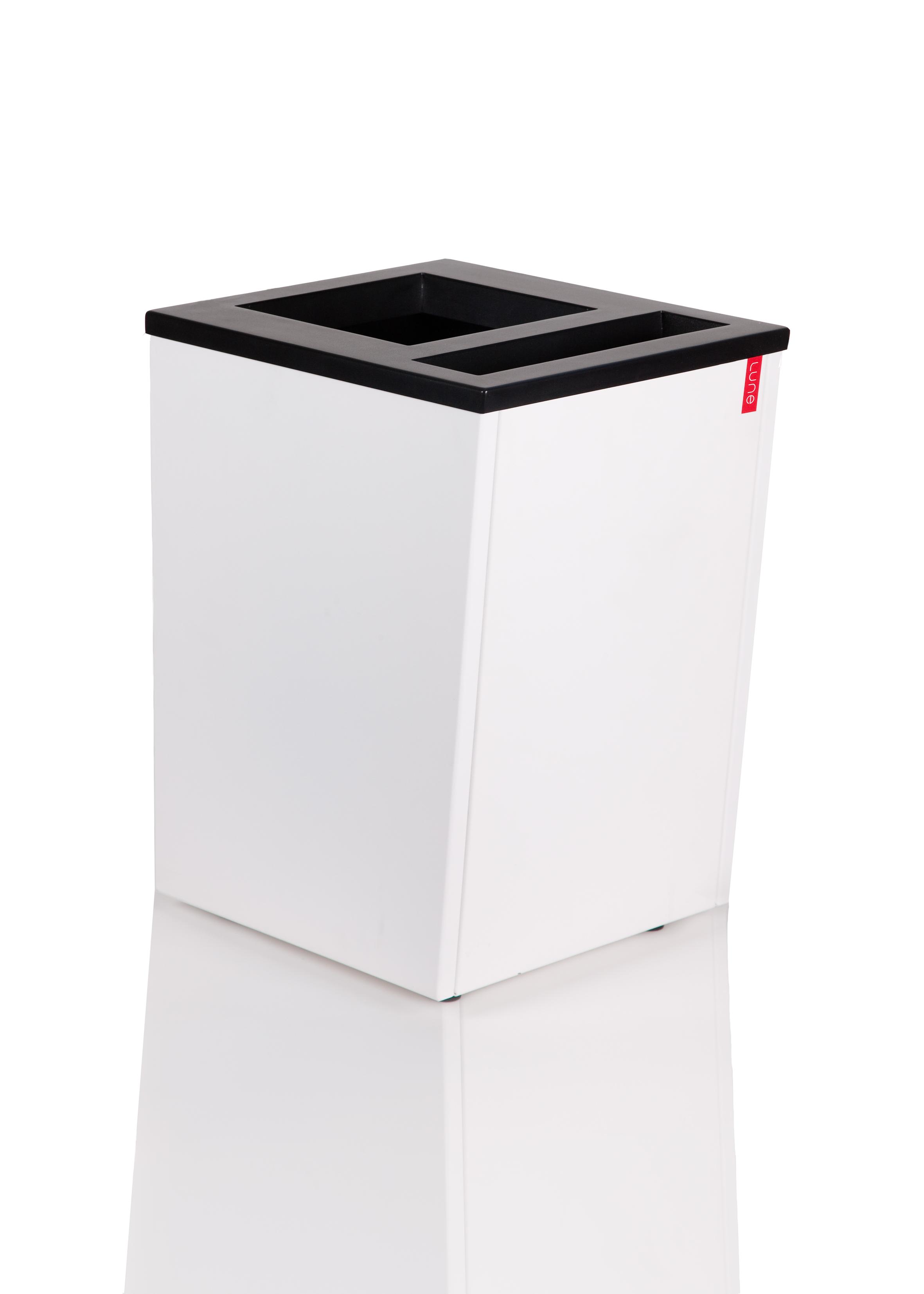 Afvalbak Artho wit, duo afvalbak