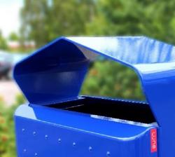 Buiten afvalbak Miro Mar blauw