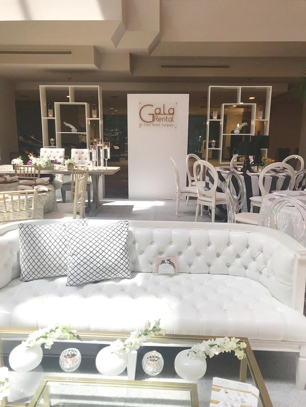 Gala Rental at Orlando Florida wedding expo.