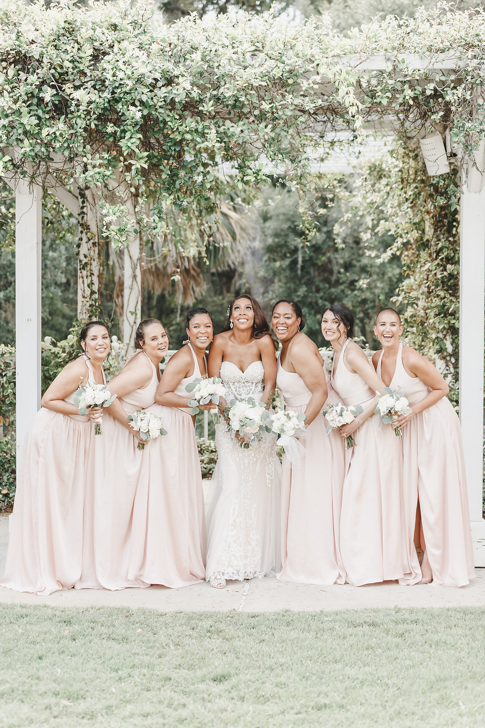 Navy Blue & Blush Wedding | Lake Mary Events Center