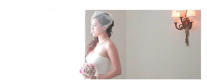 5 Reasons Why First Looks Aren't Only For The Couple. Bride looking out the window with bid-cage veill.