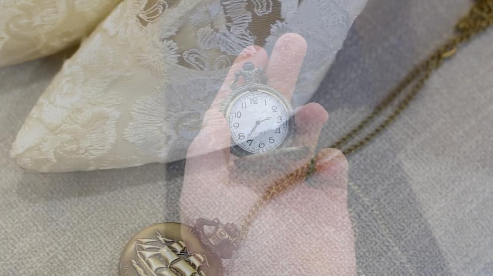 Pocket watch, sand, heels, ocean, lean, weddings