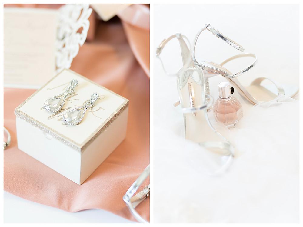 Perfume bottle. Wedding invitation