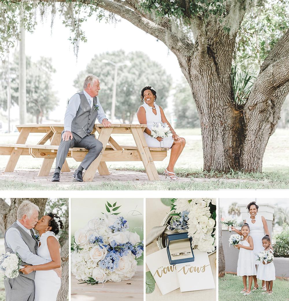 Grey & White Kissimmee Florida Elopement |  Unashamed Imaging