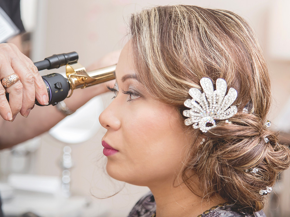 Bridal hairpiece. maria elena hairpiece.