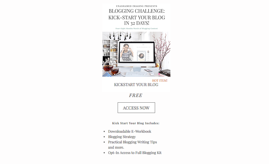 KICK-START YOUR BLOGGING 32 DAYS.