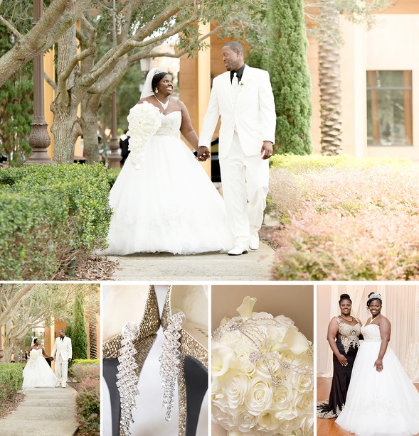 Crystal Ballroom at Veranda Wedding | Orlando Wedding Photographer | Courtney & DeAndre