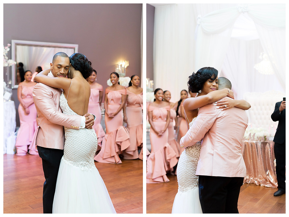 Bride & Groom First dance. bride crying.