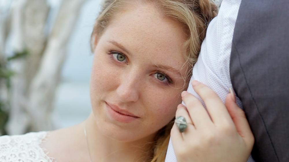 love, bride looking at husband, blonde hair, weddings