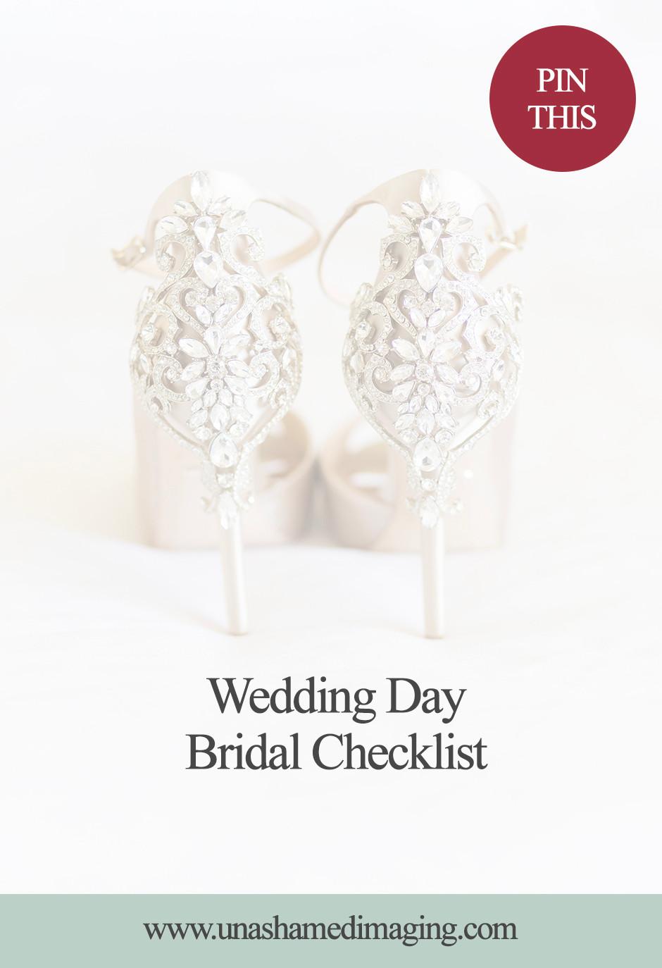 Wedding Day Bridal Checklist