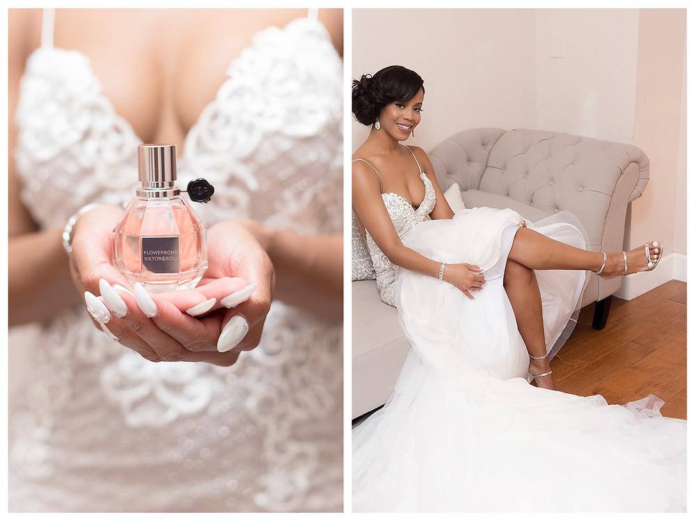 Flowerbomb Viktor & Rolf. Perfume bottle. Wedding invitation