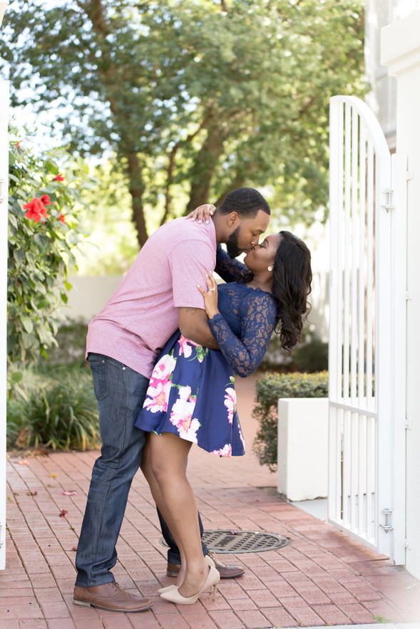 Celebration Florida Engagement: Ebony & Ranell