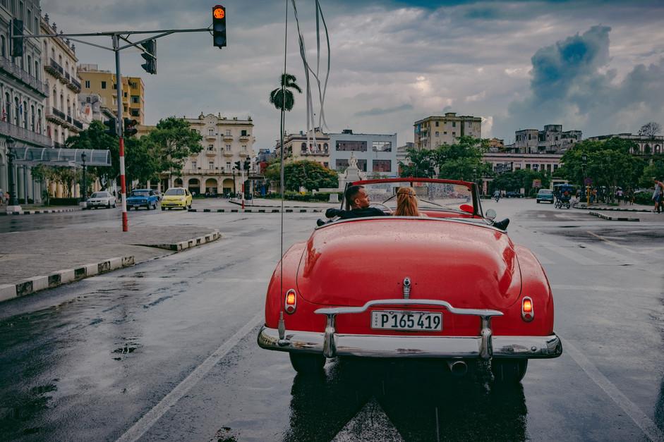 Cuba Red Car