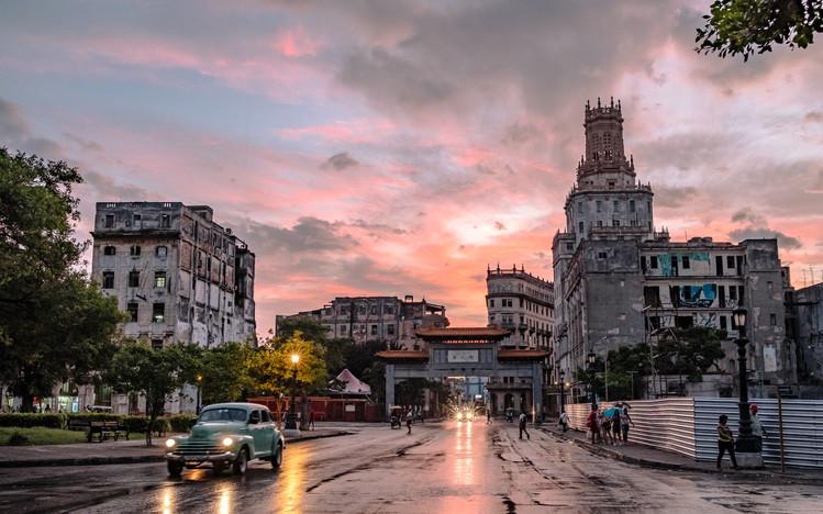 Cuba China Town Sky