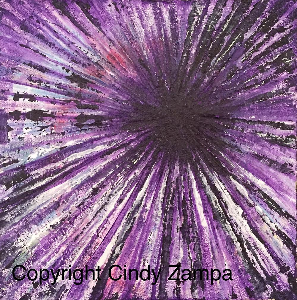 Portal 52 'Diagnosis' acrylic painting Cindy Zampa
