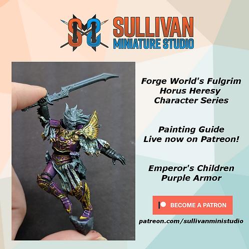PDF Painting Guide - Fulgrim Purple Armor