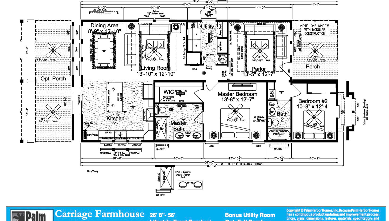 Carriage Farmhouse  Marketing Floorplan.