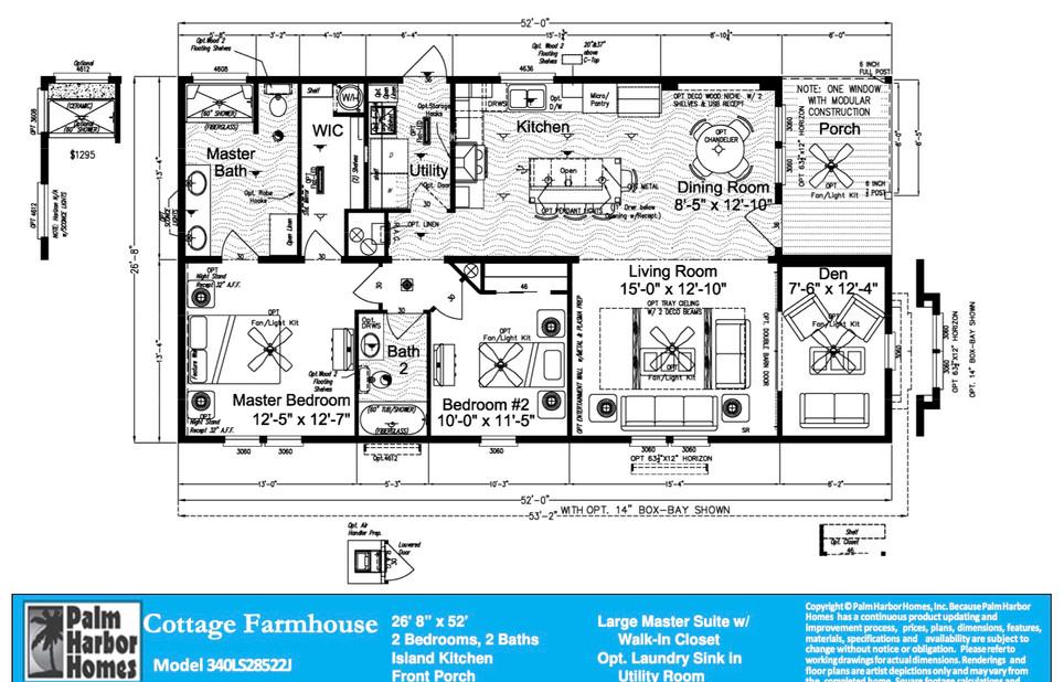 Cottage Farmhouse Floorplan