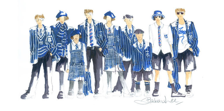 St Andrews School Uniform Sketch