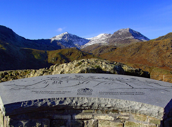 Snowdon from viewpoint