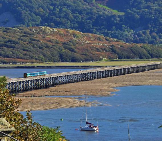Barmouth Bridge and Yacht.jpg