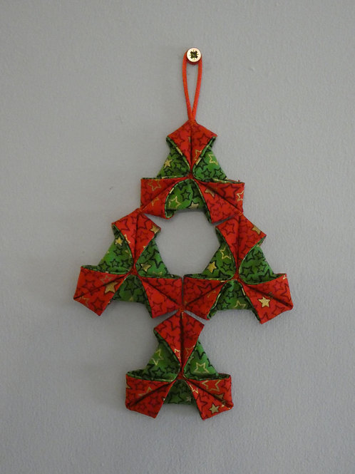 Small 'Origami' Christmas Bell Wall Hanging Decoration