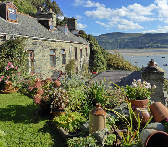 Ruskin's cottages in Old Town, Barmouth