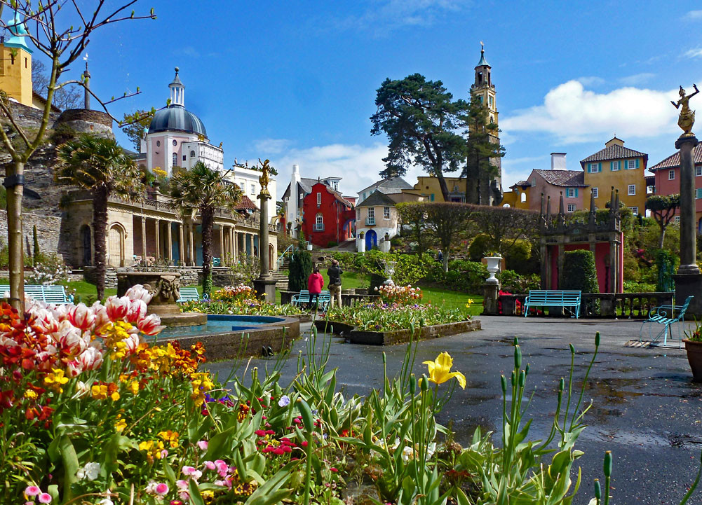 Portmeirion in the spring