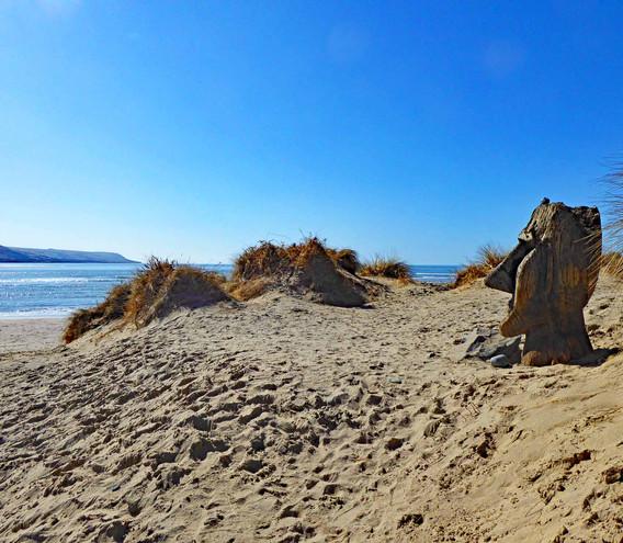 Barmouth 'Maoi' on the beach