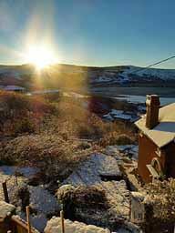 Winter sunrise from Noddfa's window