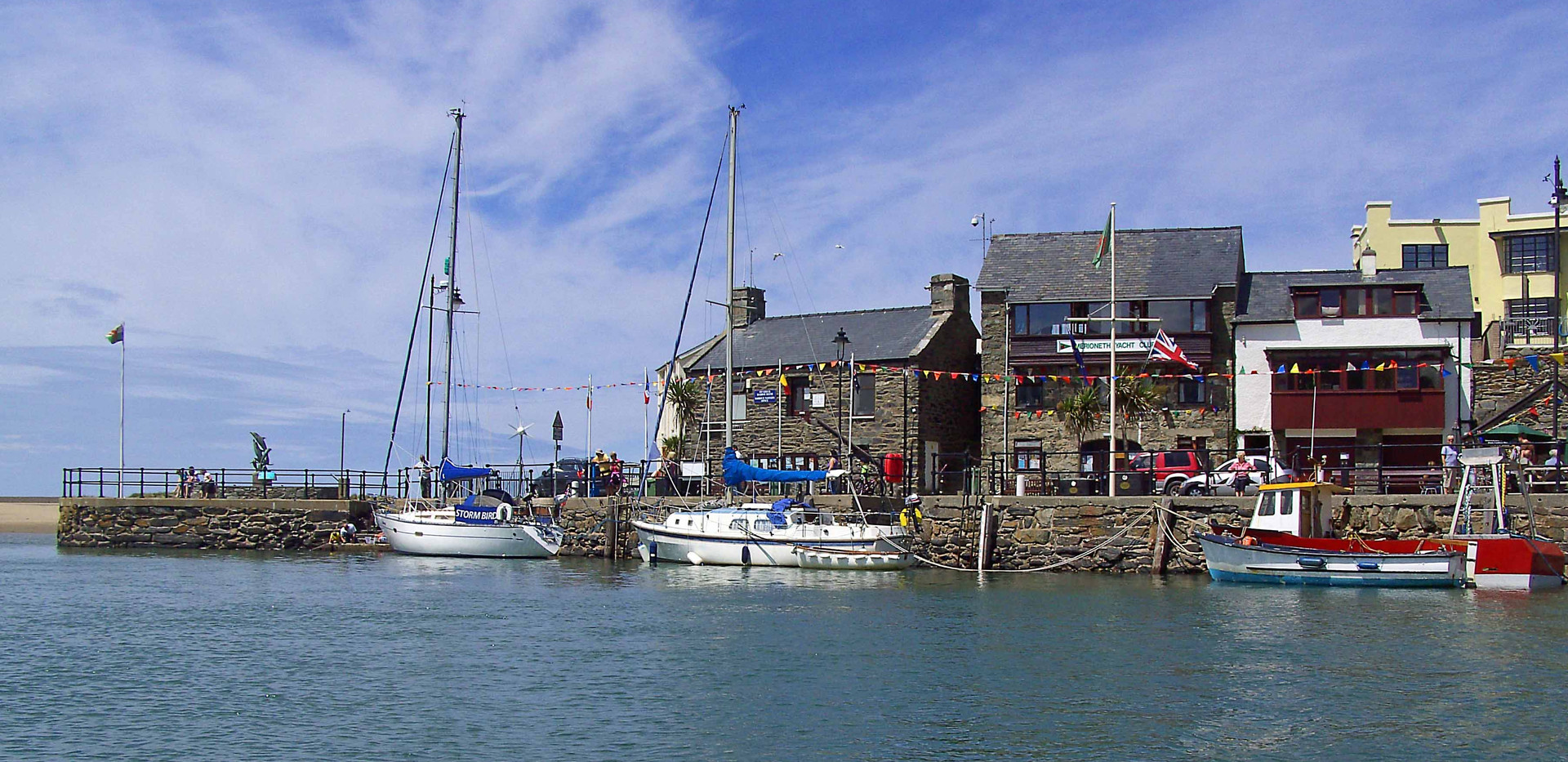 Barmouth quayside from the water