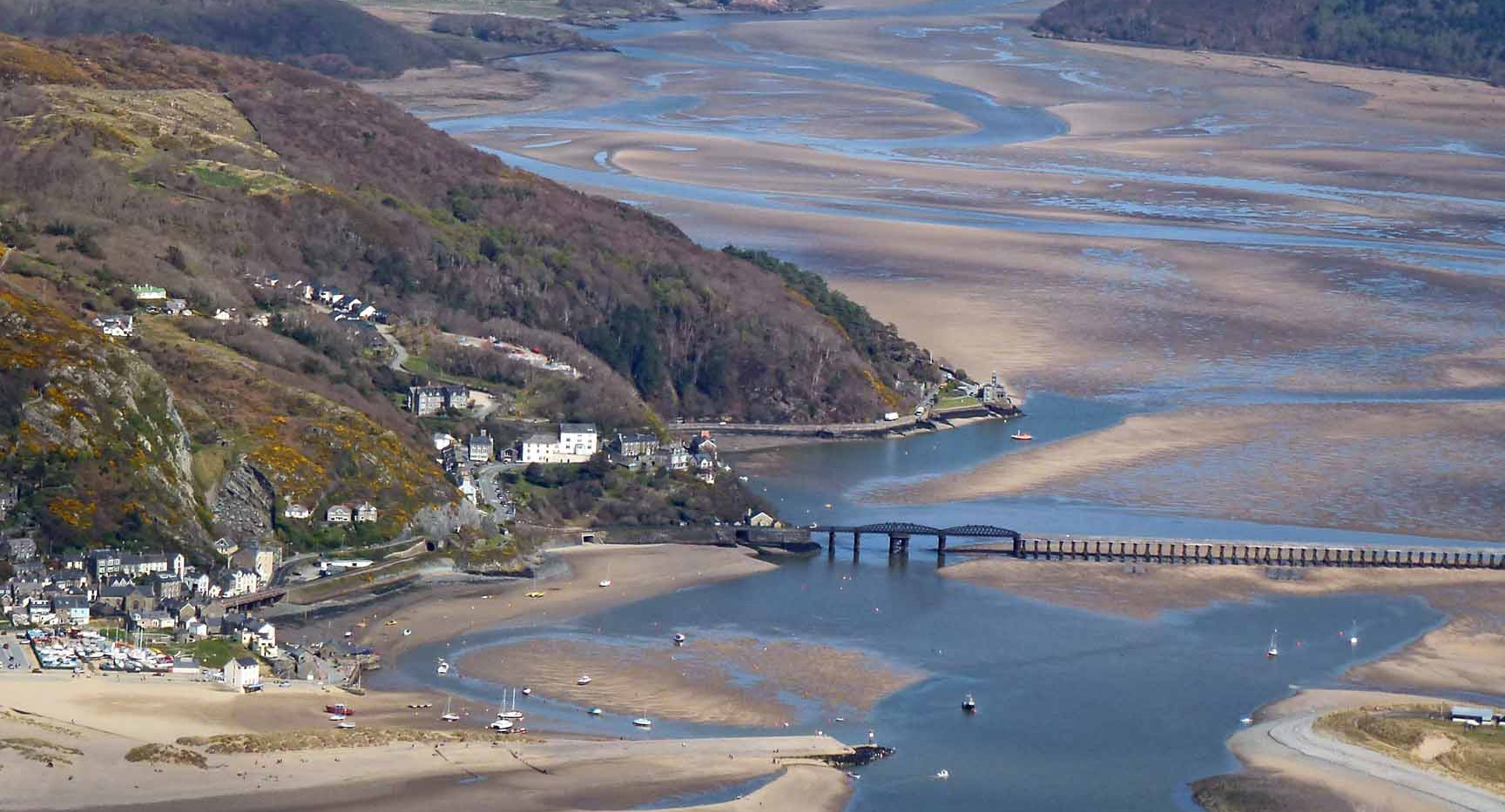 Barmouth and Mawddach estuary from the air