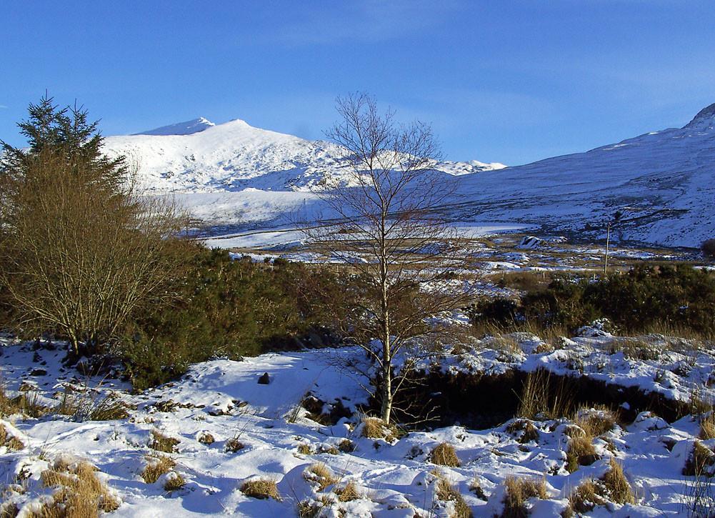 Snowdon in the snow