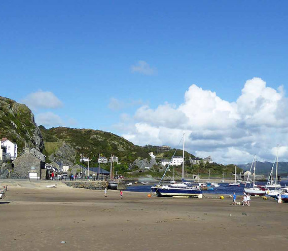 Low tide in Barmouth harbour