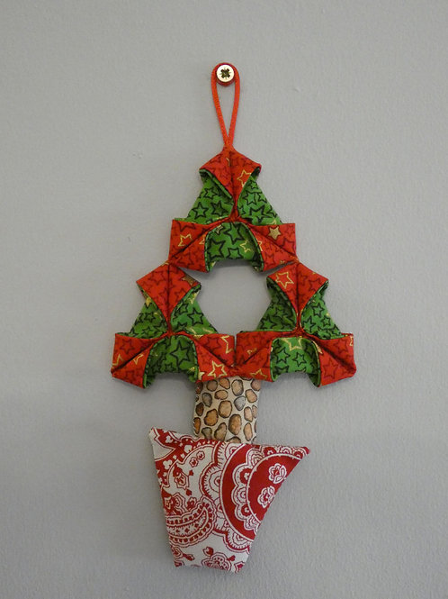 Small 'Origami' Christmas Tree Wall Hanging Decoration
