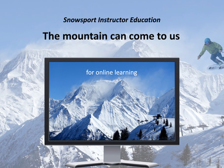 Mountains of online learning: Innovation of snowsport instructor education