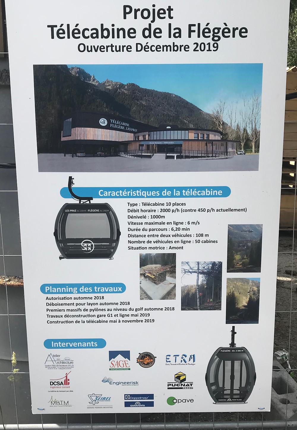 New gondola Flegere ski area Chamonix where BASS Chamonix operate