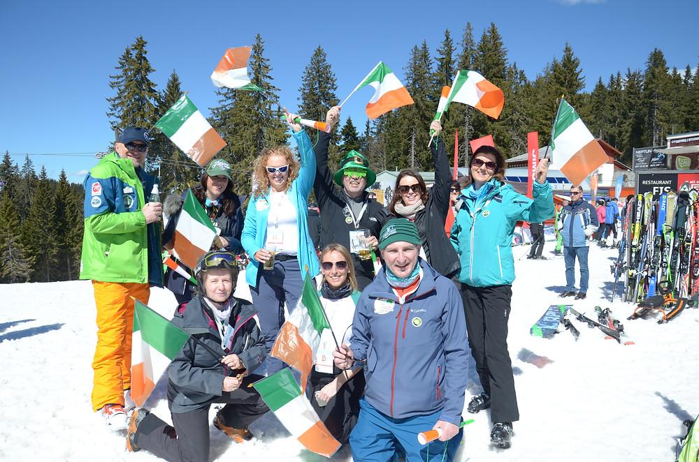 Irish Association of Snowsports Instructors members at Interski 2019